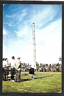 Scotland; Tossing The Caber. Colour Postcard