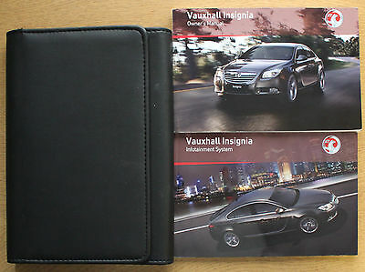 Vauxhall Insignia Owners Manual Handbook Wallet 2008-2013 Pack 12617