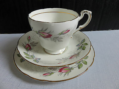 Paragon Bone China Bridal Rose Tea Trio Cup, Saucer & Side plate.