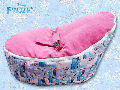 Baby Bean Bag Cover - Unfilled With 2 Removable Covers & Harness - Frozen Design