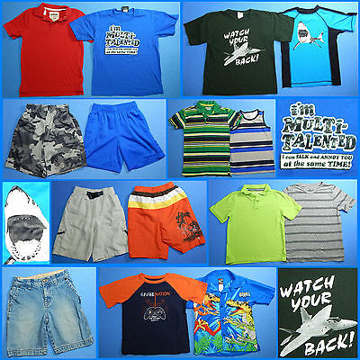 15 Piece Lot of Nice Clean Boys Size 6 Spring Summer Everyday Clothes ss144