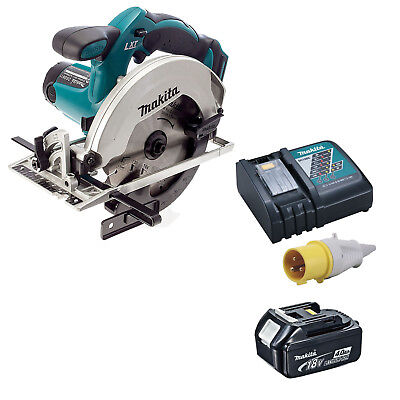 MAKITA 18V LXT DSS611 CIRCULAR SAW, BL1840 BATTERY AND DC18RC 110v CHARGER