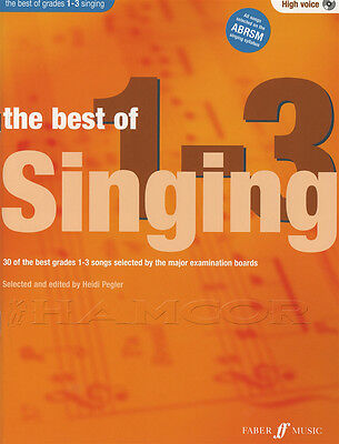 The Best of Grades 1-3 Singing High Voice Vocal Sheet Music Book with CD