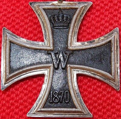 VINTAGE & RARE 1870 IRON CROSS 2nd CLASS FOR BRAVERY NON COMBATTANT MEDAL BADGE