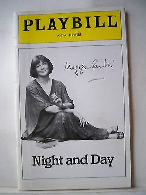 NIGHT AND DAY Playbill MAGGIE SMITH Autographed NYC 1979