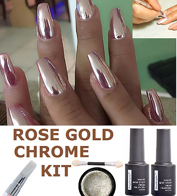 SALE! MIRROR POWDER CHROME EFFECT HOLOGRAPHIC SILVER GOLD PIGMENTS 2016 Nail Art