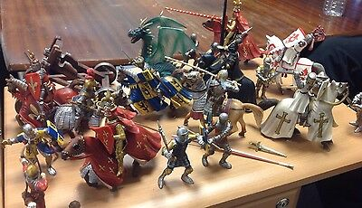 Schleich Bundle Of Medieval Knights And Horses 27 Plus Pieces Like Papo AP14