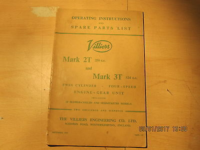 Villiers Maintenance  And Spare Parts List 2T And 3T 1959