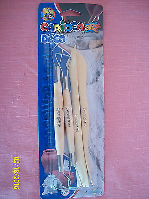 Carioca Art Deco Modeling Tools Pottery Scuplting Clay Crafts Supplies Kids New