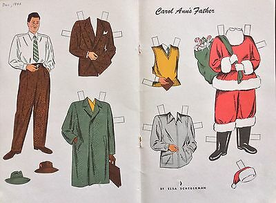 1946, Carol Ann's Father Mag. Paper Doll, Jack and Jill Mag.