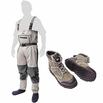 Leeda Stocking Foot Breathable Volare Chest Waders with Wading Boots