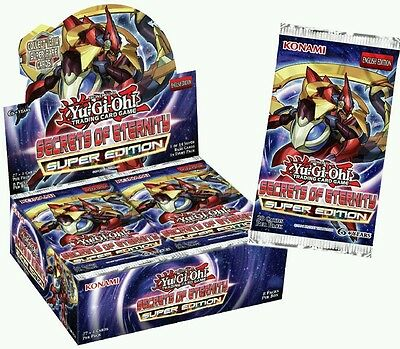 Yu-Gi-Oh! Secrets of Eternity Super Edition Booster Packs x 3 New Sealed