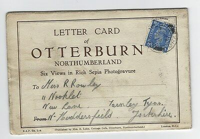 6 view letter card - Otterburn