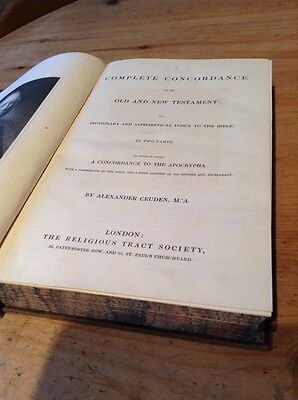 "Alexander Cruden ""a complete concordance"" antique undated Hardbound Bible book"