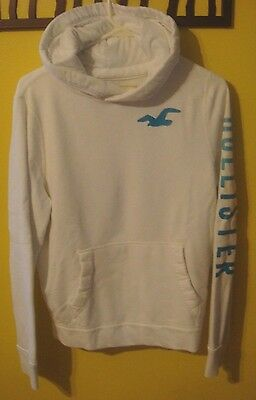 White Hollister pull Over Hoodie Size M (Youth)