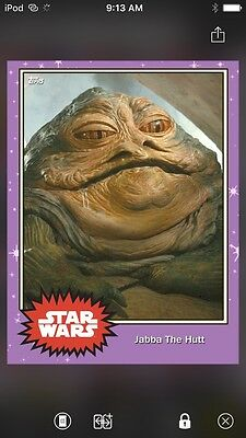 Topps Star Wars Digital Card Trader Preview Jabba The Hutt Base 4 Variant