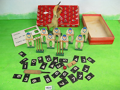 wooden vintage toy old cricket game in cussons imperial leather box 1522