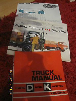 Ford Commercial Brochures D Series And Workshop Manual,rare Item!!
