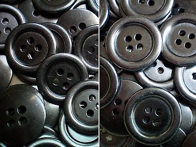 20mm 25mm Gunmetal Silver Grey Metal 4 Hole Industrial Jacket Buttons (MB34-MB35