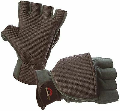 Clearance Sundridge Laminated Microfleece Fingerless Glove Mittens