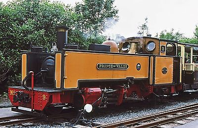 ORIGINAL COLOUR SLIDE OF No.9 'PRINCE OF WALES', VALE OF RHEIDOL RAILWAY