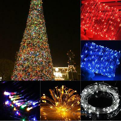 10M 100 LED 5V USB Copper Wire String Lights Garden Xmas Christmas Party  #F8s