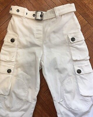 Burberry Baby White Cargo Pants 3Y