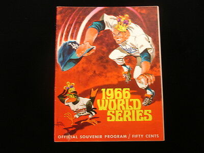 1966 World Series Program - Baltimore Orioles vs. Los Angeles Dodgers