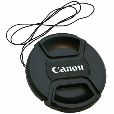 NEW 52mm Snap-On Front Lens Cap Cover Keeper string for Canon SP