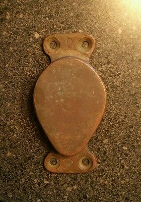 Small Antique Brass Nautical Pulley - About 4 Inches Tall - About 2 Inch Spool