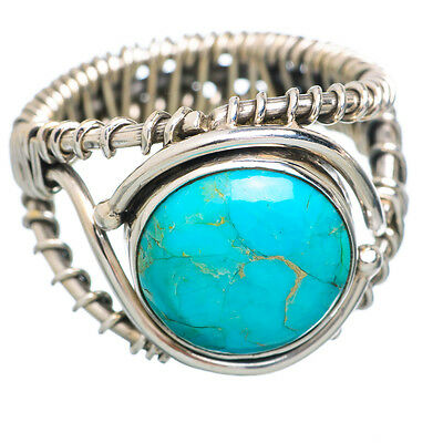 Tibetan Turquoise 925 Sterling Silver Ring Size 8 Ana Co Jewelry R778955