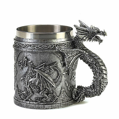 DRAGONS: Medieval Inspired Celtic Knots SERPENTINE DRAGON MUG New