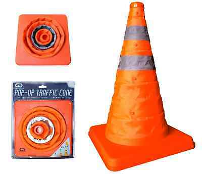 Emergency Safety Pop Up Traffic Security Cone Road Safety Reflective Straps New