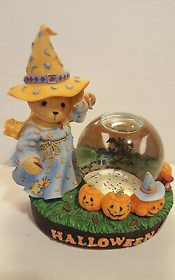"Cherished Teddies ""Halloween"" Avon Exclusive with Water Globe by Enesco"