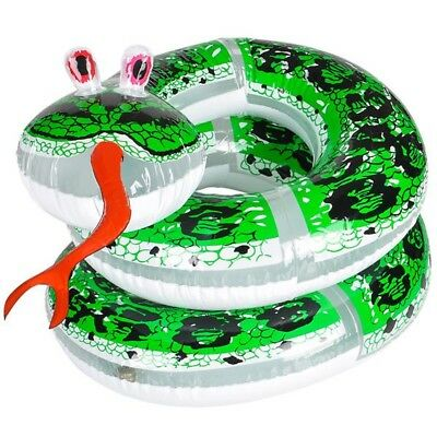 """60"""" Giant Inflatable Coil Snake Python Zoo Animal Beach Pool Party Float Fun Toy"""