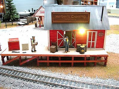 O & ON 30 Banta Herberts Crossing Built Building W/Lights