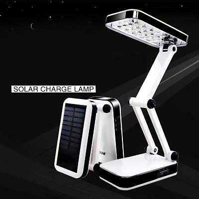 Quality 24 LED Solar Foldable Desk Lamps Rechargeable Table Light For Reading