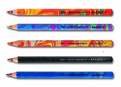 Magic Jumbo Pencil 3405 Koh-I-Noor Crayon Multicoloured Lead Original Fire Neon