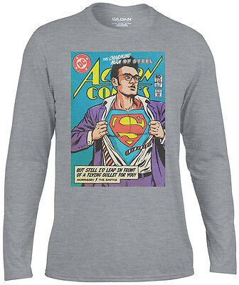 Man Of Steele Morrissey The Smiths SuperMan Long Sleeve T-Shirt - Kids & Adult