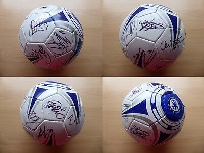 2015-16 Chelsea Official Football Signed by Squad inc. Hazard & Courtois (9518)
