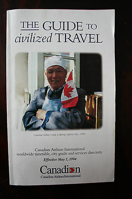 Timetable Canadian Airlines International Summer 1994