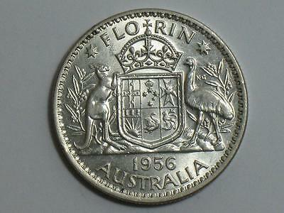 1956 Australia One Florin - Old Foreign World Coin