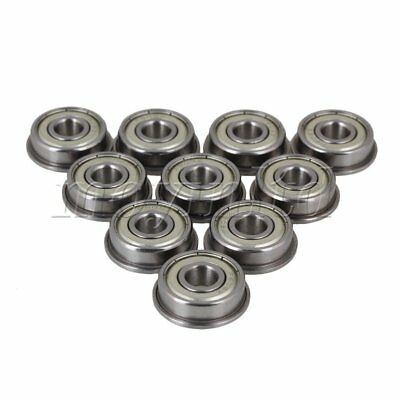 F608ZZ Flanged Ball Bearing Set of 10 Silver
