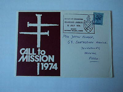 1st day cover :Calls to Mission 1974.