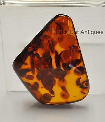 German Estate Find - Genuine Cognac Amber - Angular Polished Pendant 9.9 Grams