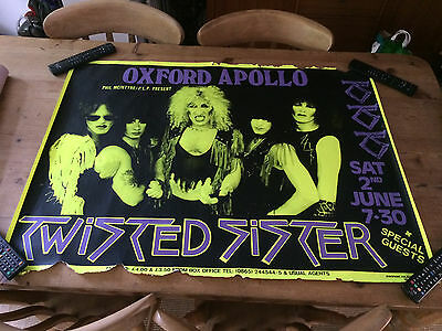 RARE Original Vintage TWISTED SISTER TOUR POSTER-Oxford Apollo Sat 2nd June 1984