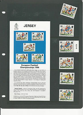 Jersey ( European Football Championship) 1996 Set of 6 Stamps  Mint Never Hinged