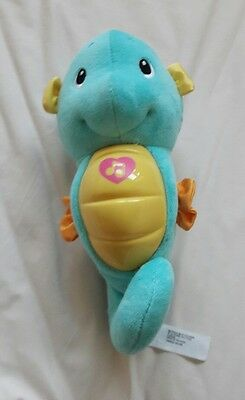 Fisher price sea horse soothing musical toy in blue