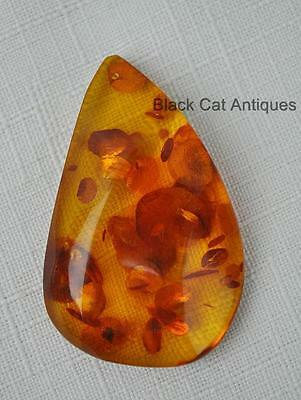 German Estate Find - Genuine Honey Amber Contemporary Polished Pendant 9 Grams