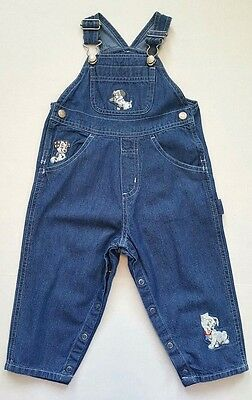 The DISNEY Store Toddler Boys/Girls 101 Dalmation Overalls Size 24 months